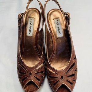 Steve Madden Agrie Wedge, Brown 8.5